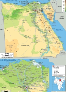 physical-map-of-Egypt